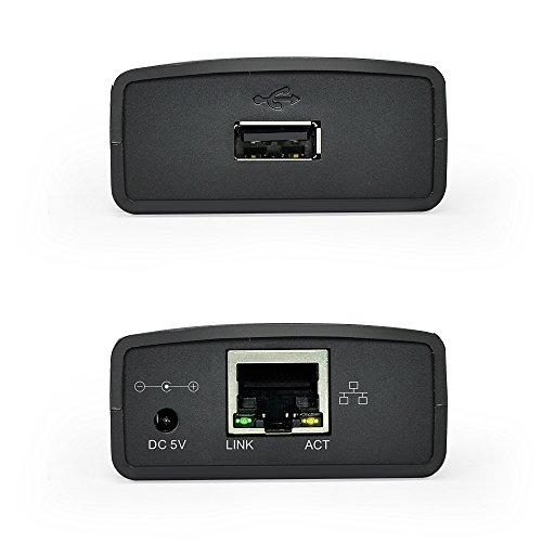 Wavlink Networking Print Server USB 2.0 Ethernet Print Server Adapter LPR 1-Port MFT Print With 10/100Mbps LAN Ethernet Port Share a Standard USB Printer with Multiple Users by WAVLINK (Image #1)