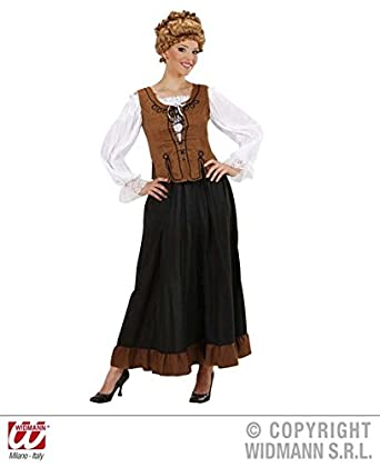M Ladies PEASANT GIRL COSTUME Costume For Medieval Tudor Middle Ages Wench  Fancy Dress Outfit Medium UK 10 12 Adults Female: Amazon.co.uk: Clothing