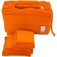 Koolertron NEW Shockproof DSLR SLR Camera Bag Partition Padded Camera Insert, Make Your Own Camera Bag (Orange)