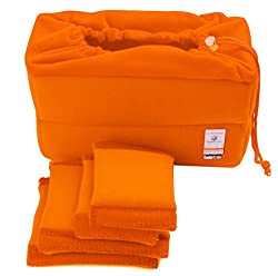 Koolertron New Shockproof Dslr Slr Camera Bag Partition Padded Camera Insert, Make Your Own Camera Bag (Orange)