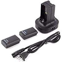 Dual Charger Base Charging Station Dock 2 Rechargeable Battery 4800mAh For xbox 360 Controle Controller Gamepad