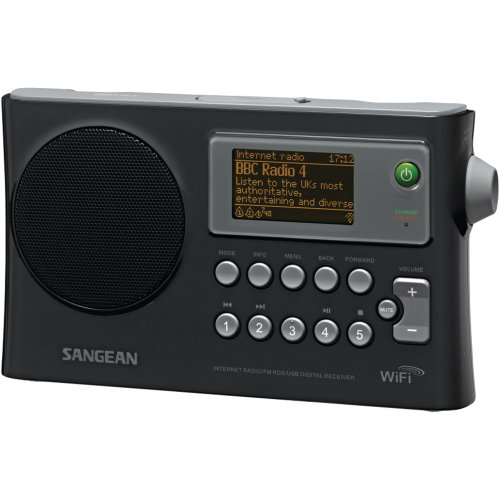 Rechargeable Portable WiFi Internet/FM-RBDS Digital Radio with USB Port