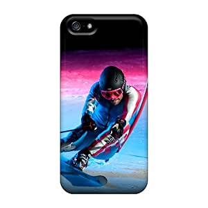 Awesome Sochi 2014 Olympic Downhill Skiing Flip Case With Fashion Design For Iphone 5/5s
