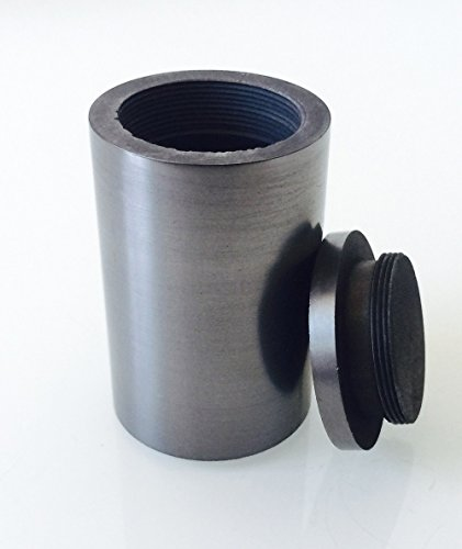 OTOOLWORLD Smelting Lab Graphite Crucible with Screw Lid Cover Lab Supply 99.95% Purity (30ML, 40x60MM) (Crucible Cover)