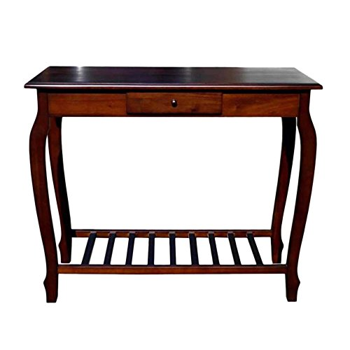 Offex Living Room Handcrafted Console Table with 1 Storage Drawer -