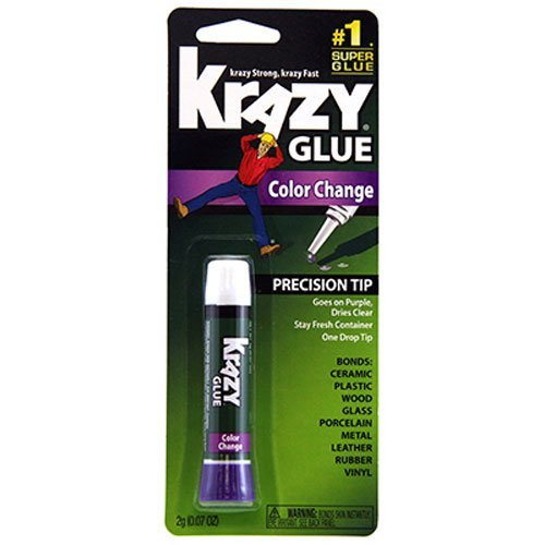 Krazy Glue KG58848R Instant Crazy Glue Color Change Formula Tube 0.07-Ounce by Krazy (0.07 Ounce Tube)