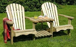 Inspiring Furniture LTD Swedish Redwood Double Adirondack Relaxing Chair