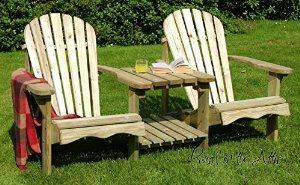 Suédois séquoia solide Double chaise Adirondack Fauteuil de jardin ...