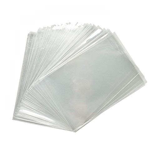 ZICOME 200-Piece Clear Treat Party Favor Bags, 6-Inch by 8-Inch