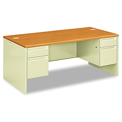 Hon Double Pedestal Desk, 72 by 36 by 29-1/2-Inch, Harvest/Putty