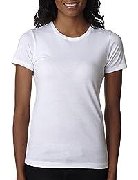 Next Level Women's CVC RibKnit Tear Away Crewneck T-Shirt