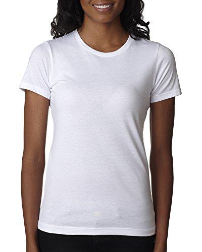 Next Level Women's Cvc Ribknit Tear Away Crewneck T-Shirt, White, XXX-Large