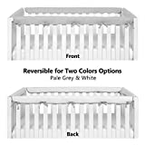 TILLYOU 4-Piece Padded Baby Crib Rail Cover