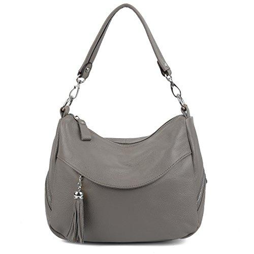 YALUXE Pockets Leather Crossbody Shoulder