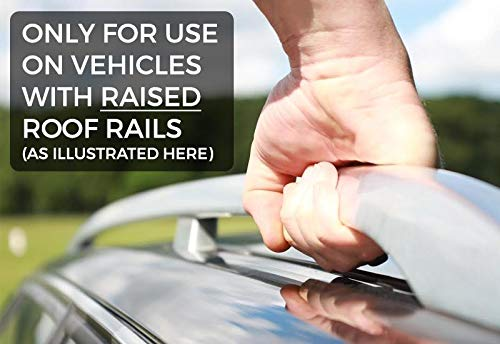 Attach To Raised Roof Rails Nordrive Aluminium Roof Rack Railing Bars 127 cm