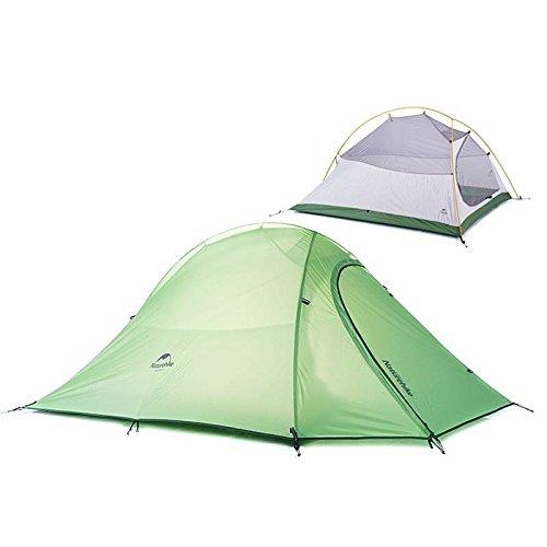 mark8shop NatureHike Outdoor Wasserdicht Camping Zelt Ultralight 2Personen Double Layer Zelt 4Season für Reisen Camping