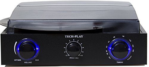 TechPlay TCP2 BK, 3 Speed control, FM Radio, Out Jacks, and LED