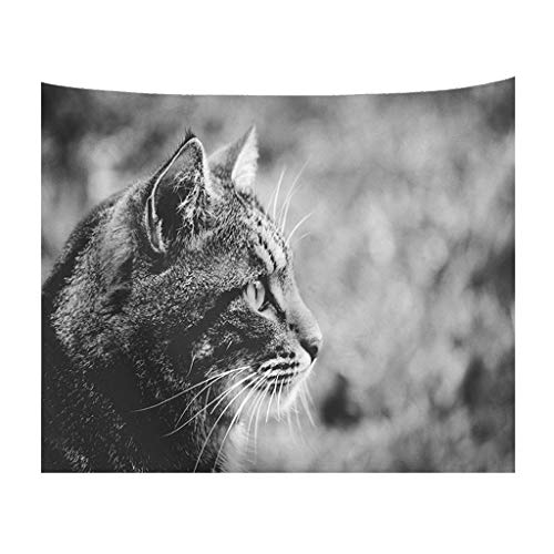 PENGYGY Cat Tapestry Lovely Animal Pet Home Decor Art Wall Hanging Sofa Table Bed Cover Home Decor - Davidson Teak Sofa