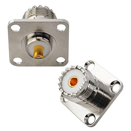 - BOOBRIE UHF Female SO239 4-Hole Panel Chassis Mount Flange Panel Mount Adapter Solder Cup RF Coaxial Coax Connector Adapter for PL259 Male Plug Pack of 2