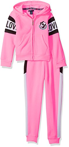 Limited Too Little Girls' 2 Piece Fleece Jog Set (More Styles Available), Multi Print, 6X by Limited Too
