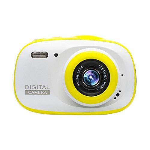 GXOK 2.0 HD Kids Camera 720P IP68 Waterproof 6X Portable Digital Zoom Cam Camera (Yellow)