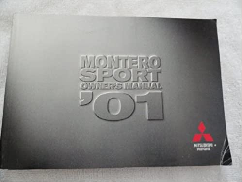 2001 mitsubishi montero sport owners manual mitsubishi amazon 2001 mitsubishi montero sport owners manual mitsubishi amazon books fandeluxe Gallery