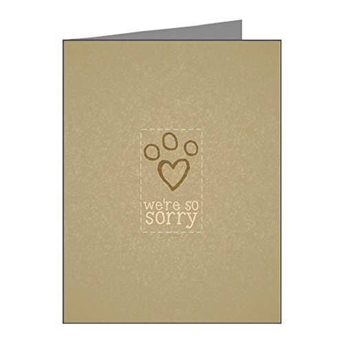 CafePress - Pet Loss Sympathy From Group Note Cards (Pk of 20) - Blank Note Cards (Pack of 20) Matte