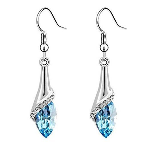Yellow Chimes Swarovski Elements Dew Drops Designer Earrings for Women & Girls