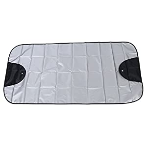 Car Windscreen Cover - TOOGOO(R)Car Windscreen Cover Winter Anti Snow Frost Ice Shield Dust Protector Sun Shade Silver&Black