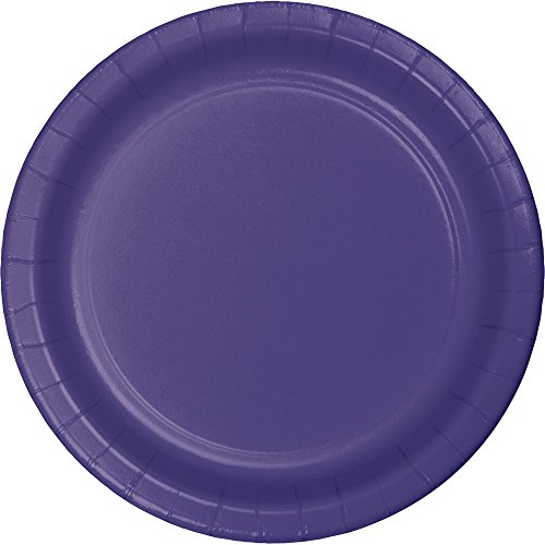 Creative Converting 533268 Touch of Color 96 Count Dessert/Small Paper Plates, Purple - 423548 ()