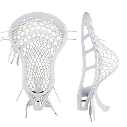 String King Mark 2V Strung Midfield Lacrosse Head (White)