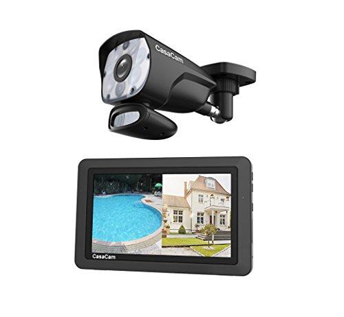 CasaCam VS1001 Wireless Security Camera System with HD Spotlight Camera and 7