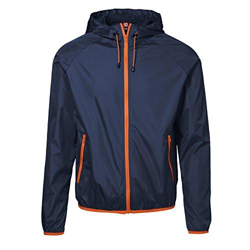 Avec vent Légère Coupe Orange Rangement Sac De Id Veste Homme qwxIA7n