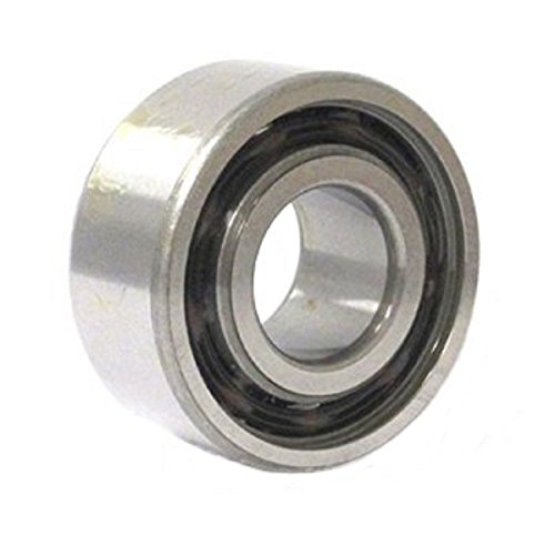 C&U 3204C3 Double Row Angular Contact Ball Bearing, ABEC1 Precision, Open, Nylon 66+25% Glass Filled Cage, C3 Clearance, 20 mm Bore, 47 mm OD, 20.6 mm Width, 11.1 kN Static Load Capacity, 15.3 kN Dynamic Load Capacity (Angular Ball Row Contact Bearings)