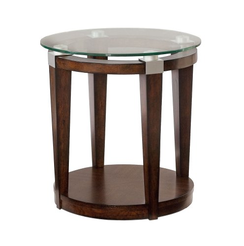 Solitaire Round Accent Table by Hammary