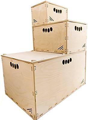 MK Design - Caja de Herramientas de Madera (Alta Resistencia, 40 x 30 x 23 cm, 21 L, sin Tapa, apilable): Amazon.es: Hogar