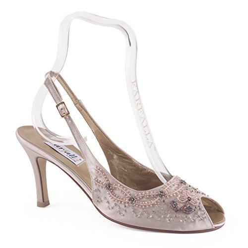 FARFALLA - Sandalias de vestir para mujer Beige