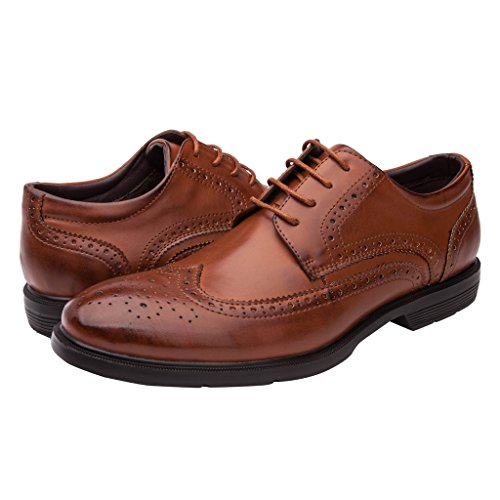GLOBALWIN Mens 08Brown Oxford Lace-Up 12M