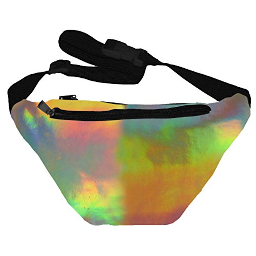 [Funny Guy Mugs Iridescent Fanny Pack] (Festival Costume For Men)
