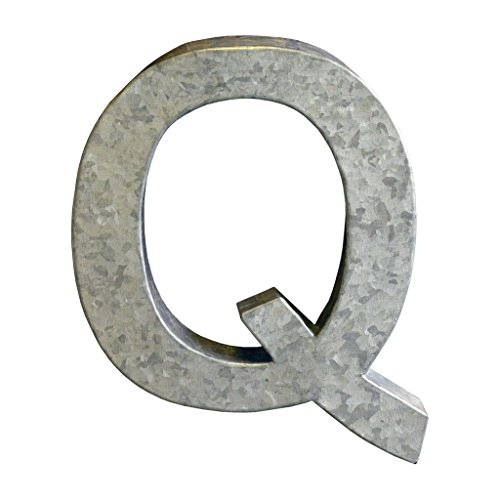 Modelli Creations Alphabet Letter Q Wall Decor, Zinc by Modelli Creations