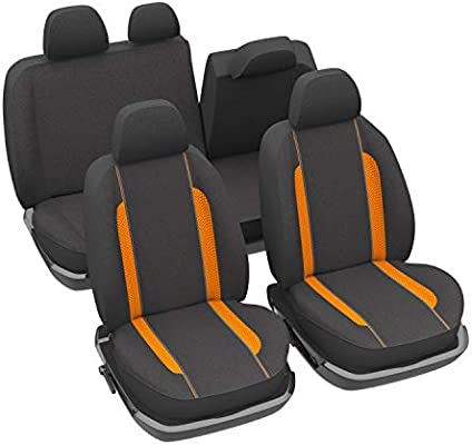 DBS 1012868 Car Seat Covers Universal Non-Slip Wipe Clean Orange
