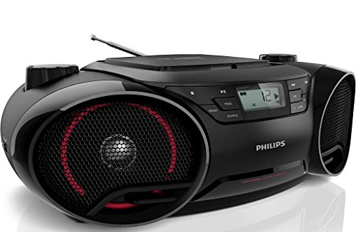 Philips AZ3811 Portable Boombox MP3 CD Player AM/FM Radio Stereo Speaker System with USB/Aux Input