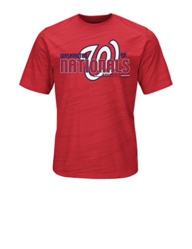 MLB Washington Nationals Men's Bringing The Glory Tops, Red, X-Large