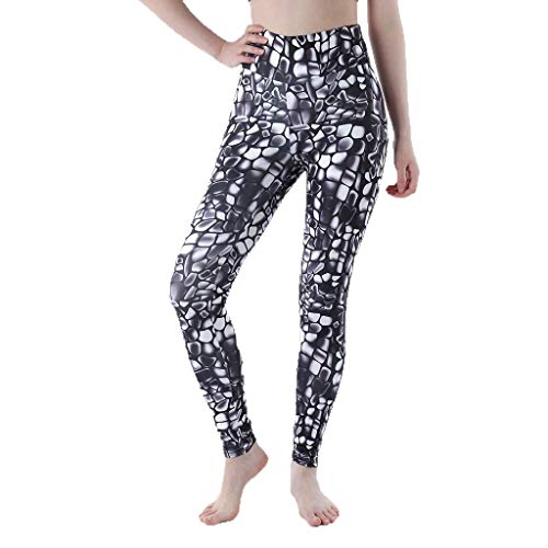 Pongfunsy WomenYoga Pants Printed Extra Long Women Yoga Leggings High Waist Tummy Control Over The Heel Yoga Pants (XL, Black)