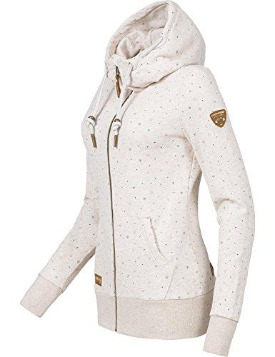 mujer Fabricación para Chaqueta de Ragwear Chelsea Melange XL cremallera Con colores 12 entretiempo Beige XS vegana xfCwxX8nq