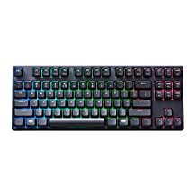 MasterKeys Pro S Mechanical Keyboard with Intelligent RGB, Cherry MX Red Switches, Multiple Lighting Modes and 80% Layout