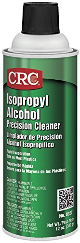 CRC 03201CS Isopropyl Alcohol Cleaner 14 WT oz, 192 Fl oz, Aerosol Can, Clear Water White (Pack of 12)