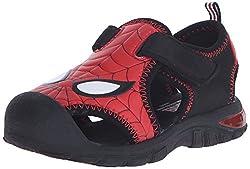 Disney 1SPS610 Spider-Man Closed Toe Sandal (Toddler), Red, 5 M US Toddler