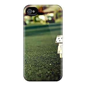 VzA10334jbuN Macro Cardboard Danbo Awesome High Quality Iphone 4/4s Case Skin