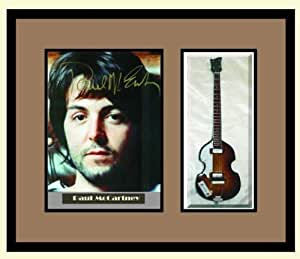 paul mccartney guitar shadowbox shadow box frame beatles musical instruments. Black Bedroom Furniture Sets. Home Design Ideas